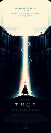 Thor poster, by Olly Moss
