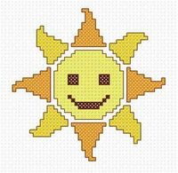 Cross Stitch Addict: FREE Cross Stitch Pattern - 'Sunshine Smilie'