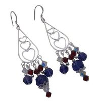 Whether you want something glittering for the cocktail hour or elegant for every day these beautiful Sterling silver 92.5 framed White Red Purple chandelier earrings suit every taste & age making it a terrific gift to give yourself or someone special....
