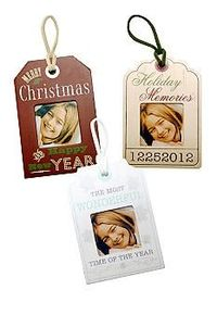 New View Set of 3 Holiday Tag Frame Ornaments #belk #holidays