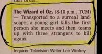 Wizard of Oz synopsis.