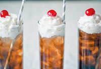 Voot Beer - root beer, cherry, whipped cream, vodka.