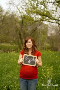 I love this maternity shot! Maternity chalk picture. Toni Marie Photography