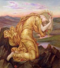 Demeter Mourning for Persephone By Evelyn De Morgan
