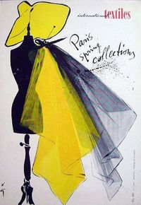 International Textiles Illustration by Rene Gruau