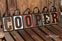 Custom Name Blocks/Wood Letters for Baby Nursery, Childs' Room - Momeni LilMo Whimsy Concrete $54.00