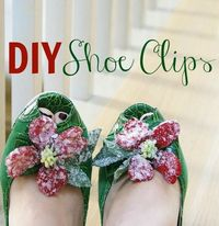 diy shoe clips via The Glamorous Housewife