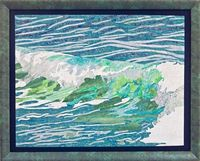 Ocean Wave Wall Decor Art Quilt