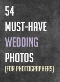 Good wedding photo checklist