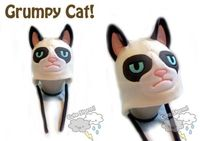 Head a little chilly? Why not get a Grumpy Hat? #GrumpyCat