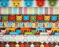 Roar fabric by Print and Pattern for Robert Kaufman, Roar Stripe in Bermuda-Fat Quarter. $2.75, via Etsy.