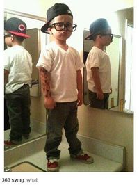 this kid has major swag.