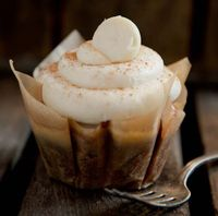 White Chocolate Pumpkin Frost Cupcakes