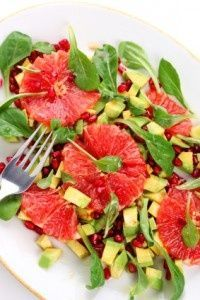 Pink Grapefruit Avocado Salad
