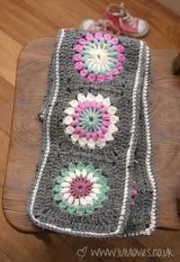 Crochet - Granny Square Scarves