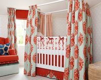 curtains on crib