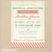 Bridal shower printable invitation