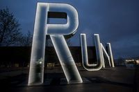 RUN installation at The Olympic Park London