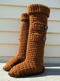 Knee High Ugg Slipper Boots Free Crochet Pattern