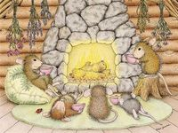 House Mouse Quiet Evening with Friends