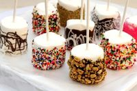 Chocolate dipped marshmellows.