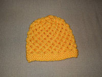 Leggo my Eggo hat - straight needles, chunky yarn, sz 13