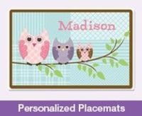 Personalized kid gifts. Cute placemats! Freckle box.com