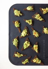 Avocado Toast Points. #food #appetizers #starters