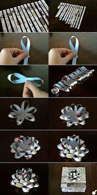 Make a Gift Bow Out of Any Paper - Tutorial