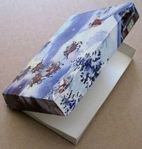 pizza box from a greeting card - tutorial