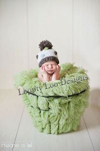 Baby Boy Crochet Polka Dot Beanie Newborn by LooptyLooDesigns, $20.00