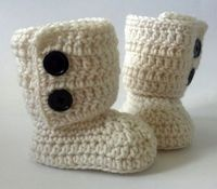 Crochet Baby Ugg Boots by ModernBabyCrochet on Etsy, $20.00