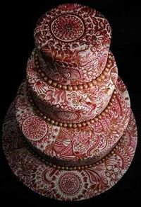 Mendhi cake - the intricate design amazes me!