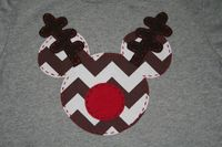 Christmas Mickey Shirt, Rudolph Mickey, Disney Vacation Shirt, for your little Mickey or Minnie Mouse. $29.95, via Etsy.