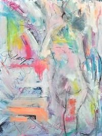 Classically Abstract. She Is. by Gee Gee Collins Mixed ~ 48 x 36 #EasyNip