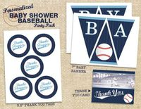 Baseball Baby Shower Printable Party Pack - DIY. $25.00, via Etsy.