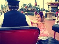 opening family at the Magic Kingdom on 9/4/11. Firetruck ride down Main St USA