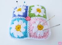 Daisy Granny Square Pincushion « The Yarn Box