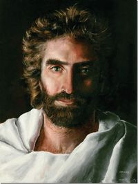 "Jesus by Akiane - she painted this when she was just 8 years old. And the boy who died and went to heaven, said this is what Jesus looked like. His father wrote the book, ""Heaven is for Real"", I think that's the title. The little girl who pain..."