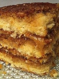 Pecan Pie Cake - {{Another poster said..}} .. Ok people,, you've been warned! This cake will make a grown man drop to his knees, birds will sing, and you'll experience a party in your mouth.