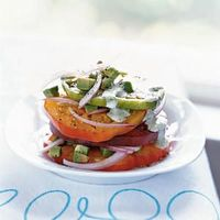 Summer Appetizers | Heirloom Tomato and Avocado Stack | CookingLight.com