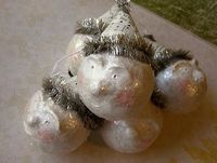 Vintage looking snowman ornaments to make.
