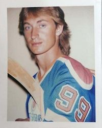 Wayne Gretzky Polaroid taken by Andy Warhol