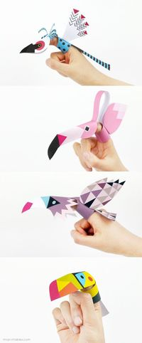 Printable Bird Finger Puppets!