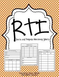 RTI- Progess Monitoring Recording Pages FREEBIE