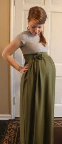 Make your own maternity dress... It's worth learning to sew - SO hard to find long maternity clothes! erin warren