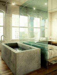 Concrete bath