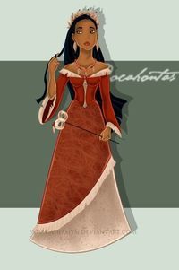 Masquerade Pocahontas - Disney Princess Fan Art
