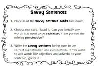 Savvy Sentences Freebie