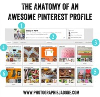 Anatomy of an awesome Pinterest profile. Good for anyone, not just photograpohrs.